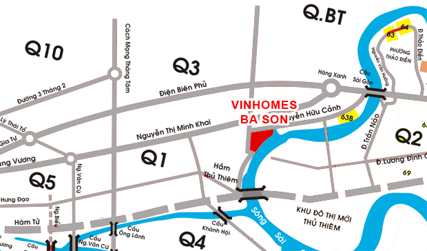 vi tri can ho vinhomes golden river